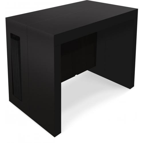 3S. x Home - Table Console Extensible Noir Mat CHAD - Console