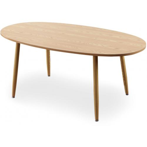 3S. x Home - Table Scandinave Ovale Beige NOELLE - Table