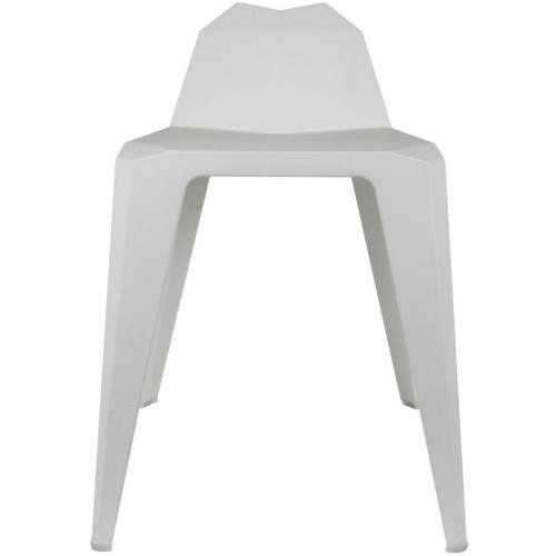 3S. x Home - Tabouret Origami Blanc KERRY - Le jardin
