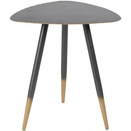 3S. x Home - Table Basse 45cm en Métal Noir et Doré EDNA - Table basse