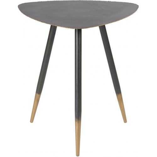 3S. x Home - Table Basse 50cm en Métal Noir et Doré EDNA - Table basse