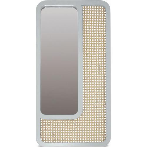 3S. x Home - Miroir Rectangle Cannage Blanc SAVANNAH - Miroirs