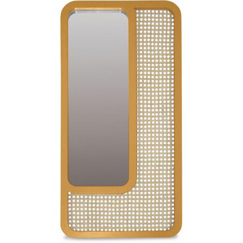 3S. x Home - Miroir Rectangle Cannage Jaune SAVANNAH - Miroirs