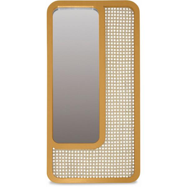 Miroir Rectangle Cannage Jaune SAVANNAH 3 SUISSES Meuble & Déco