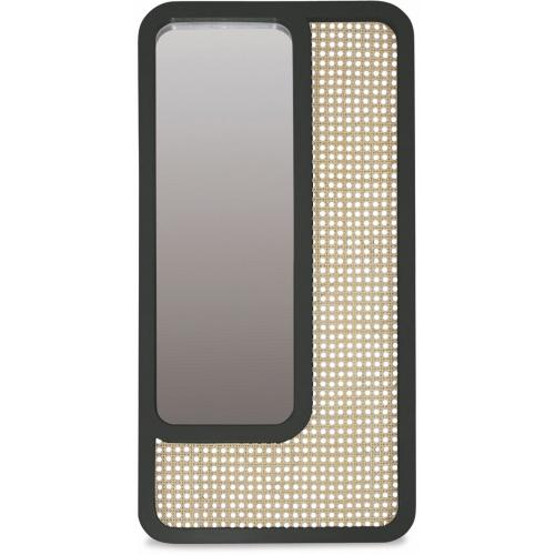 3S. x Home - Miroir Rectangle Cannage Noir SAVANNAH - Noël Meuble & Déco