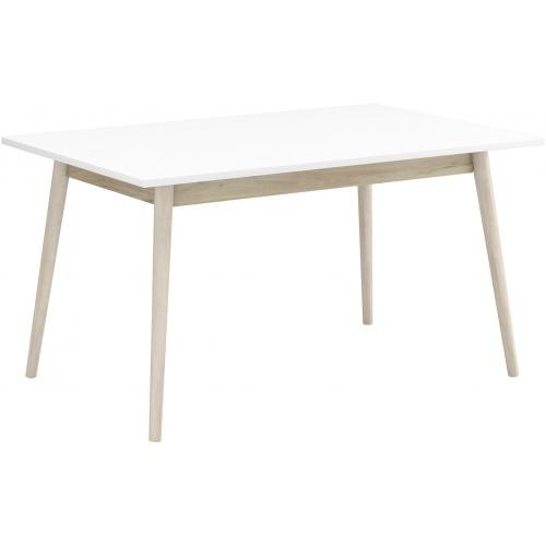 3S. x Home - Table à Manger Beige et Blanche 140x90cm JONES - Table
