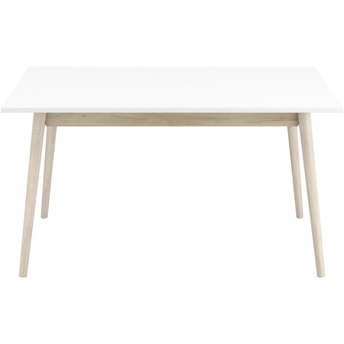 Table à Manger Beige et Blanche 140x90cm JONES   3 SUISSES