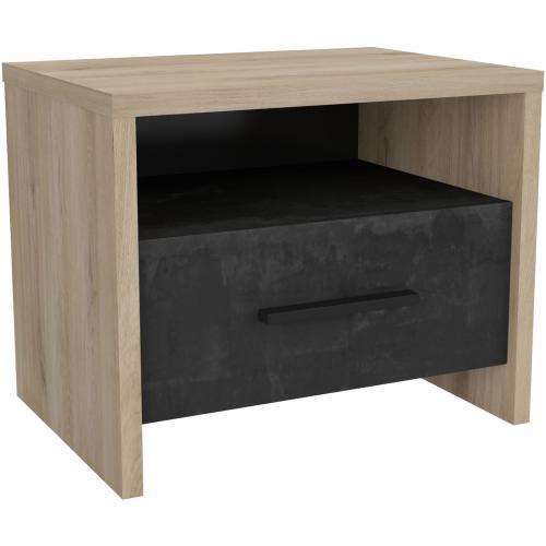 BENAT Tiroir avec Chevet et de 1 et 1 Beige Table Niche Home Noire 3Sx F1cKlJ