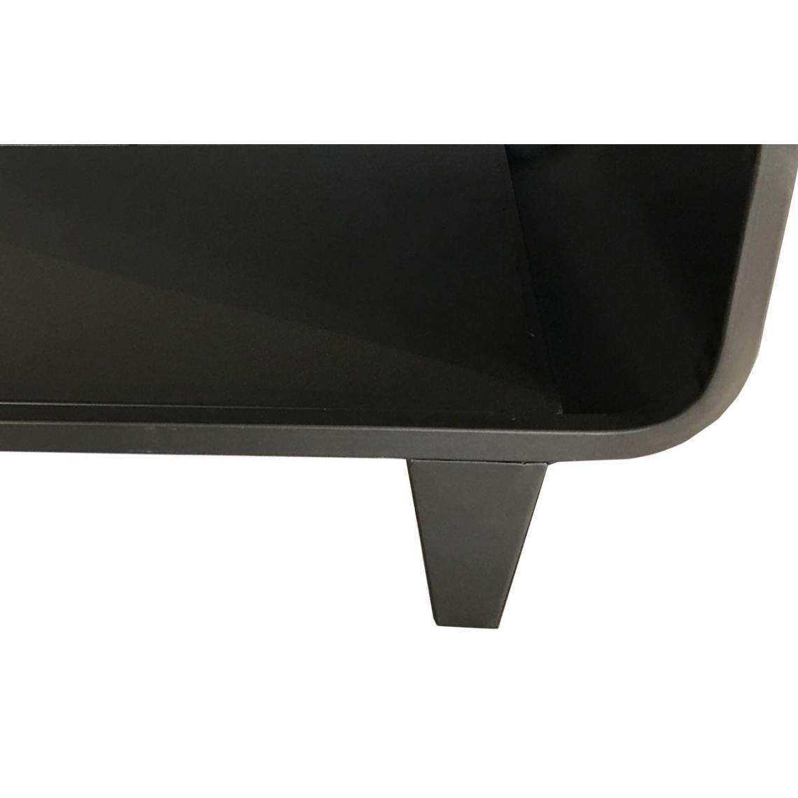 Table Basse En Metal Noir Steely