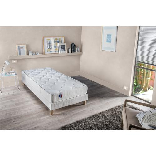 Selenia - Ensemble Matelas Latex et Mousse 2 Faces et Sommier Tapissier Matelassé FERIA - Meuble deco made in france