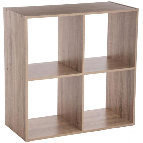 3S. x Home - Etagère Beige à 4 Cases PAGOU - Le salon