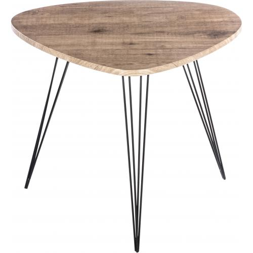 3S. x Home - Table d'Appoint Industrielle Beige et Noire 69x54cm MARYLOU - Le salon