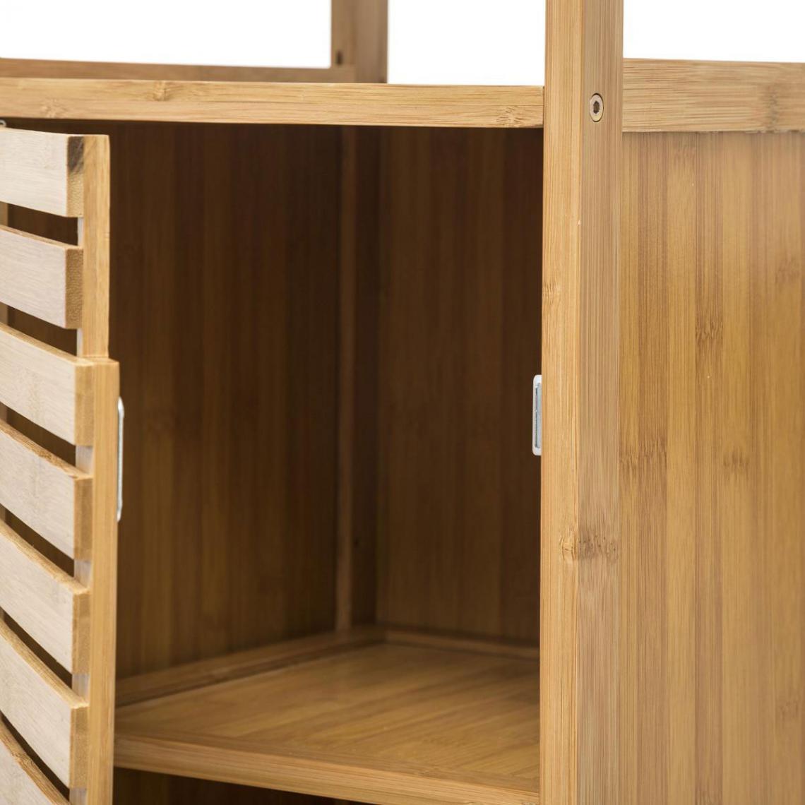 Meuble De Rangement De Salle De Bain meuble de rangement en bambou beige cepalo plus de détails