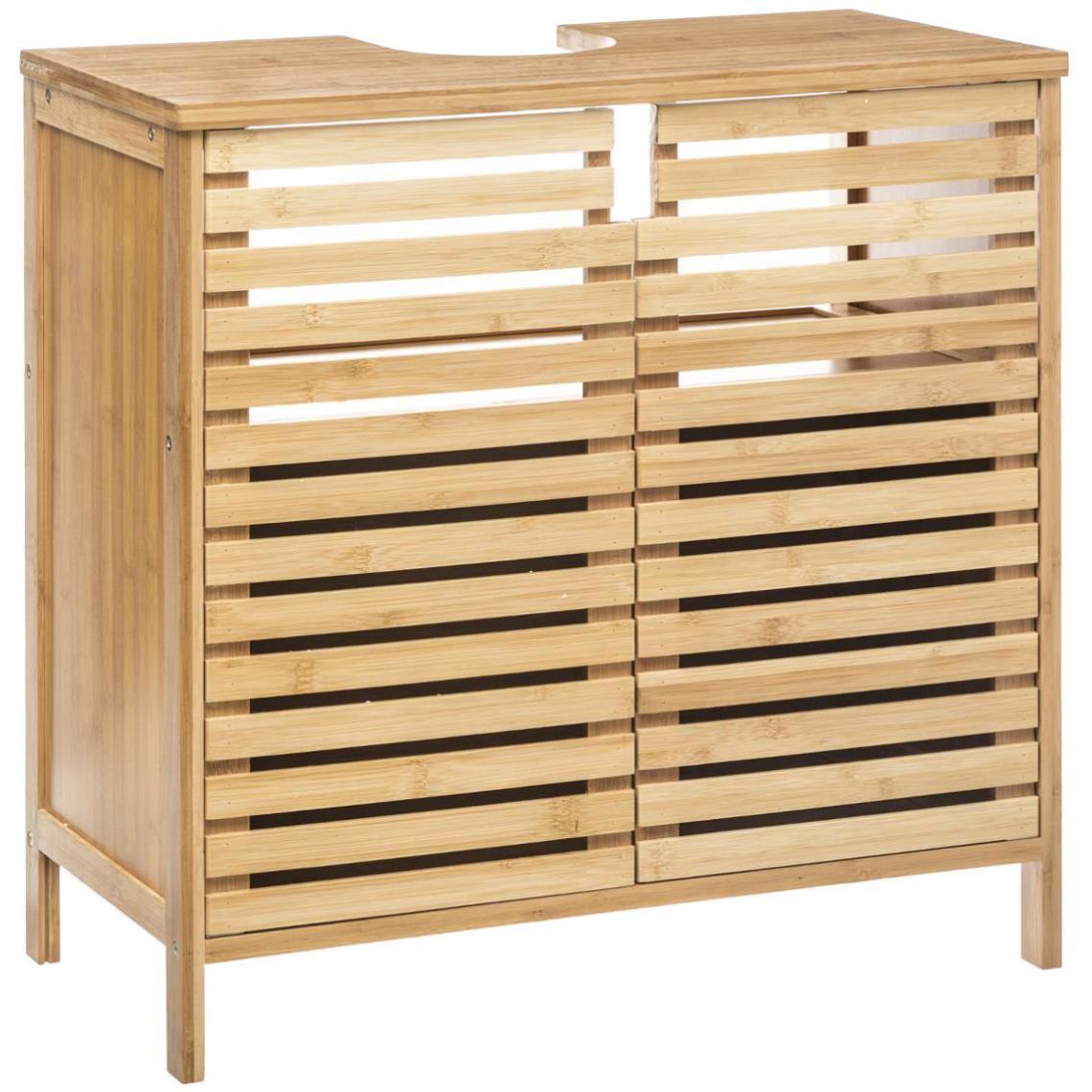 Salle De Bain Deco Bambou meuble lavabo en bambou beige cepalo plus de détails