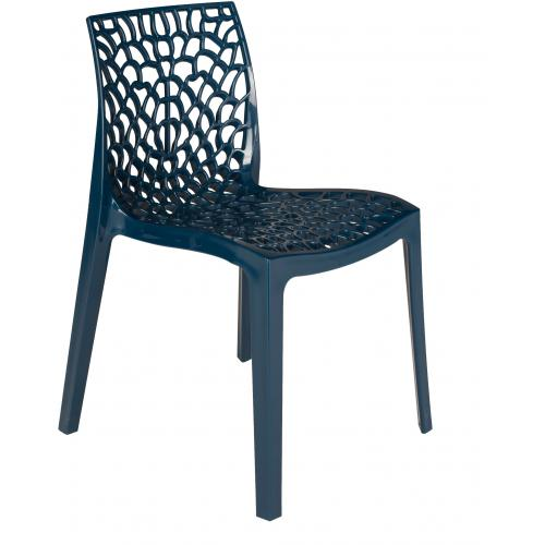 3S. x Home - Chaise Design Bleu Pétrole DENTELLE - Chaise