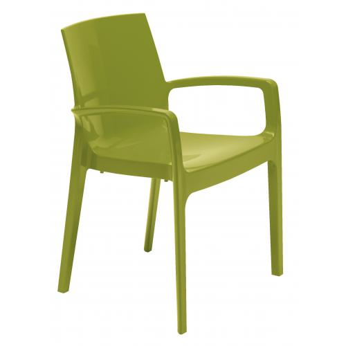 3S. x Home - Chaise Design Verte GENES - Promo Meuble & Déco