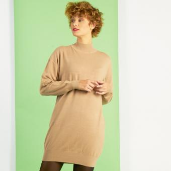 3S. x Stylist - Robe Pull col montant - Femme