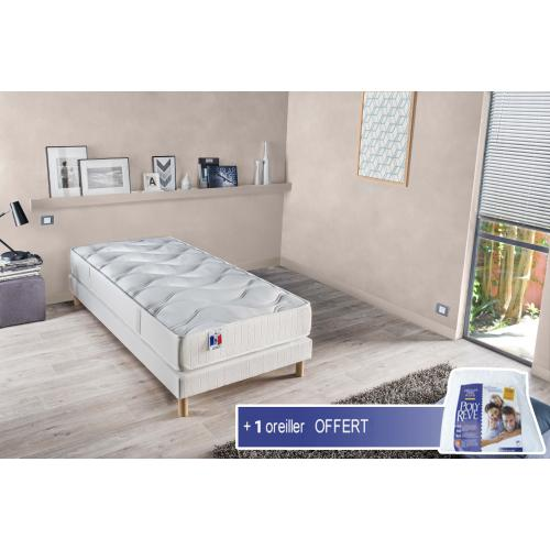 Selenia - Ensemble Matelas Mousse à Mémoire de forme CONFORT + Sommier Sélénia - Meuble deco made in france