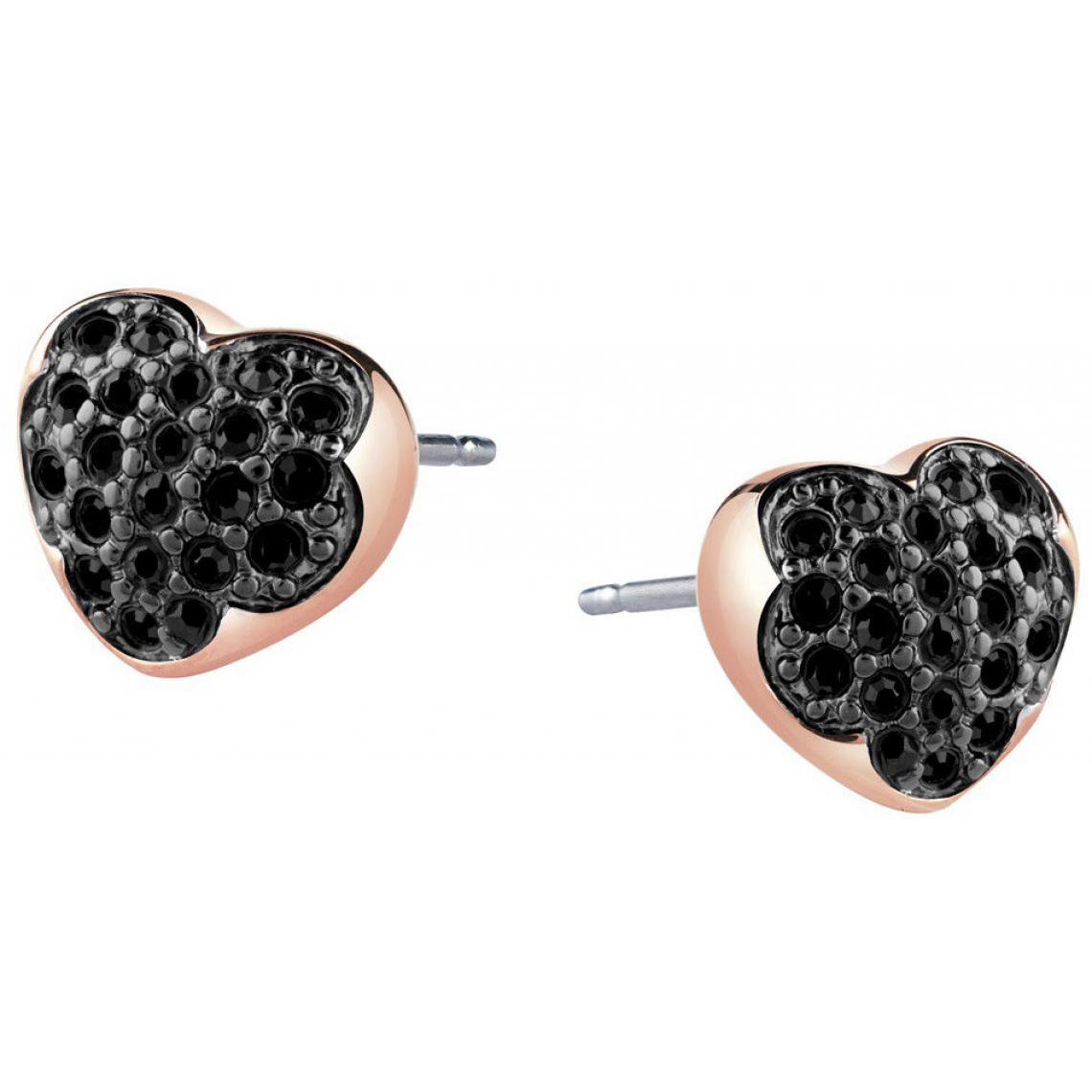 Boucles d'oreilles Guess UBE71516 - Boucles d'oreilles Coeurs Cristaux Guess Bijoux - 3 suisses - Modalova