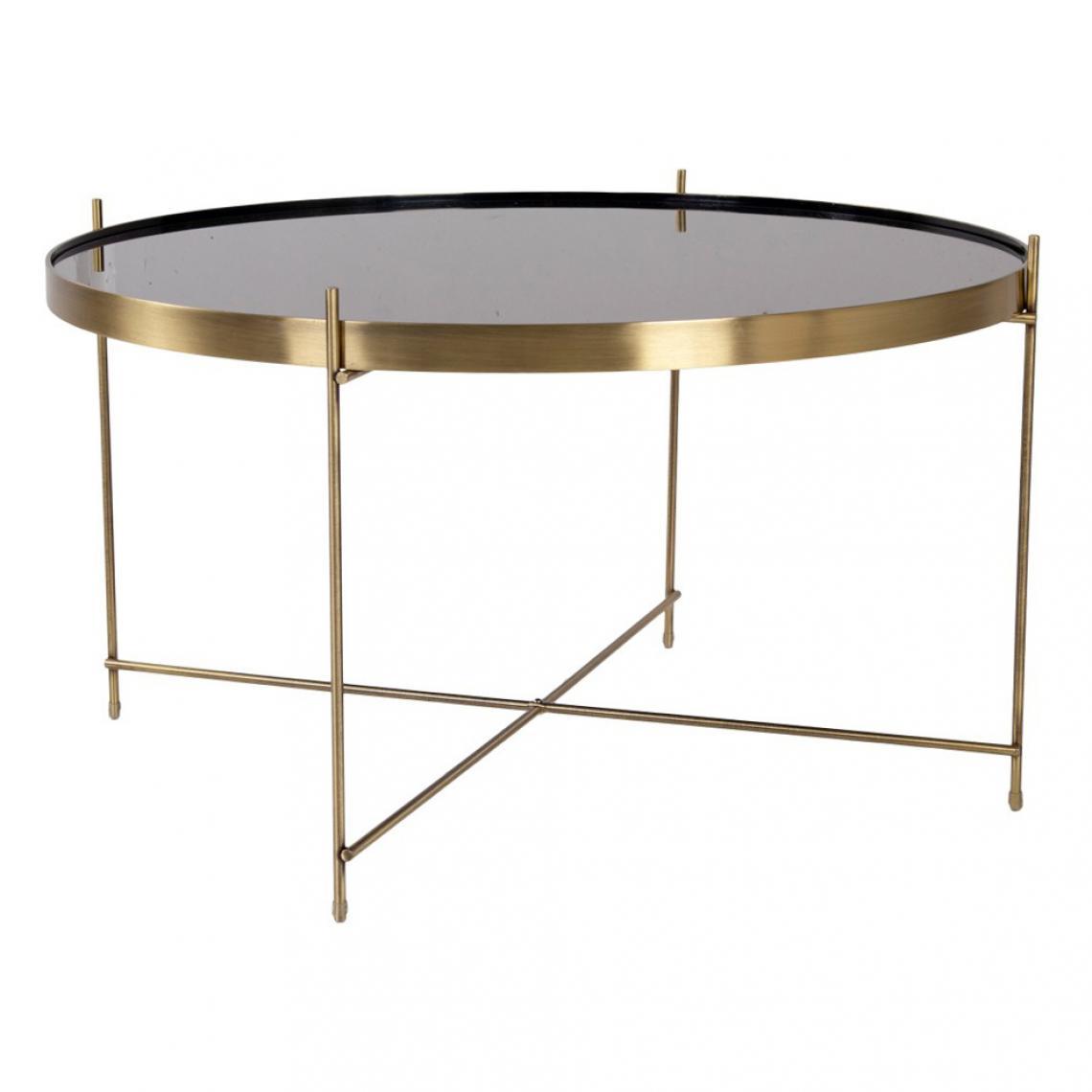 Table Basse Ronde Art Deco table basse ronde 70 cm en verre et en acier doré flouse plus de détails
