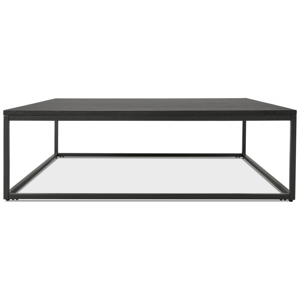 Table Basse Carree Noir Et Pietement En Metal Noir Pietra 3 Suisses