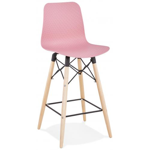 3S. x Home - Tabouret de Bar Scandinave Rose WAMY - Tabouret de bar