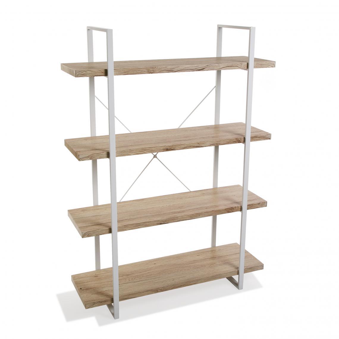 Deco A Tous Les Etages etagère 4 etages bois clair et structure en métal buinot plus de détails