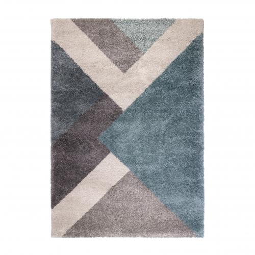 Flair Rugs - Tapis Design Bleu Multicolore TANAVO - Tapis