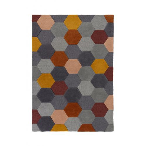 Flair Rugs - Tapis Design Multicolore en Laine FARMIZ - Tapis