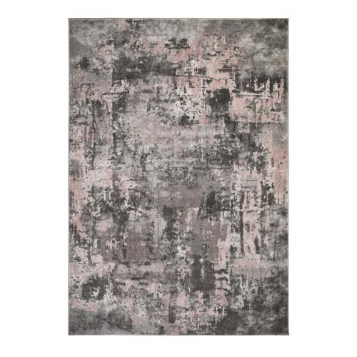 Flair Rugs - Tapis Design Gris et Rose DANI ZEIN - Tapis