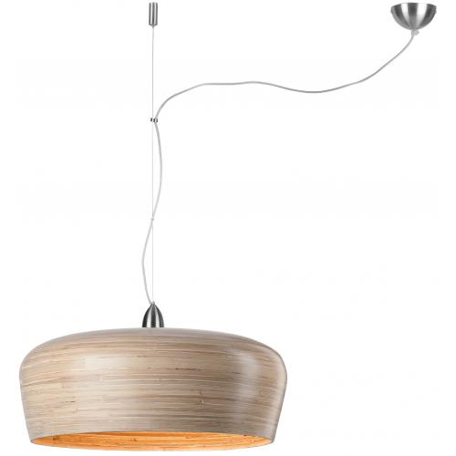 It s About Romi - Suspension Ronde Beige en Bambou HANOI - Luminaire