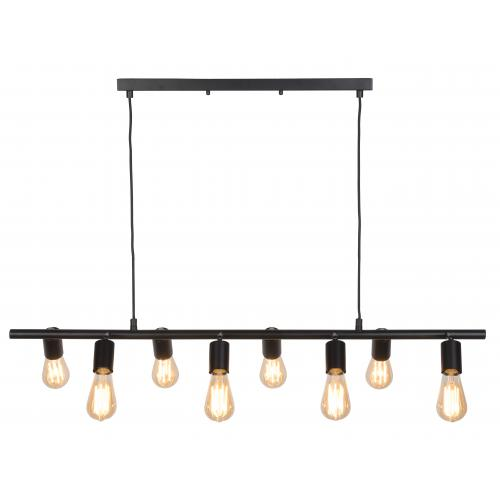It s About Romi - Suspension Multi-ampoules Métal Noir MIAMI - Luminaire