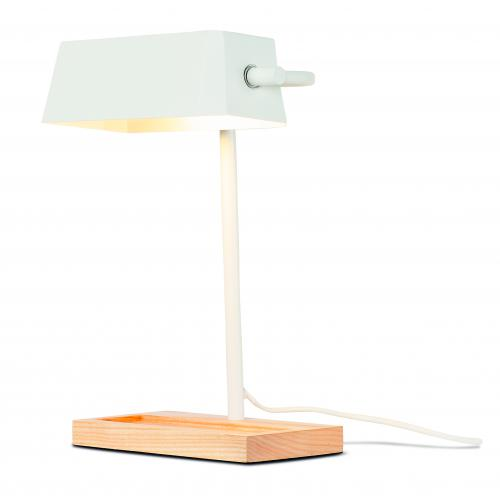 It s About Romi - Lampe de Table Métal et Bois Blanc CAMBRIDGE - Lampe