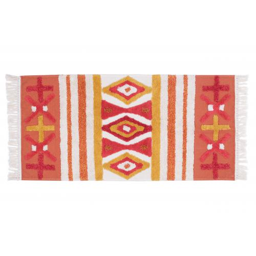 3S. x Home - Tapis Orange en Coton 70X140 BURDY - Tapis