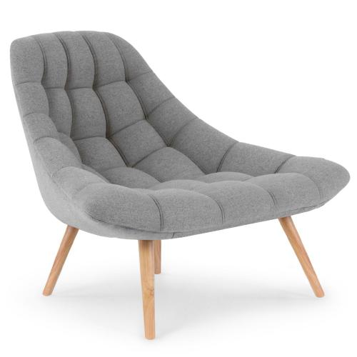 3S. x Home - Fauteuil Scandinave Tissu Gris FOLLEY - Le salon