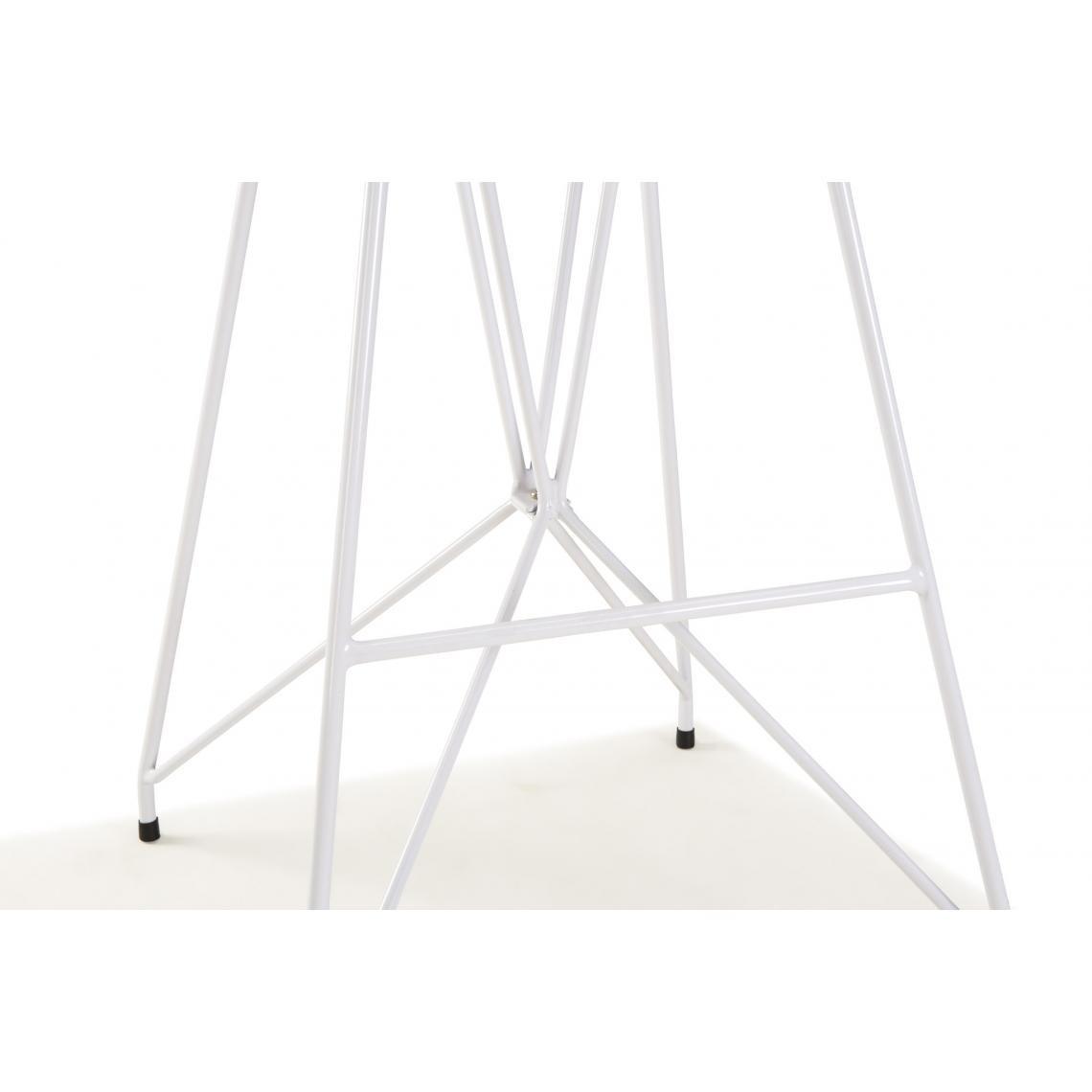 Chaise de bar Simili Cuir et Metal Blanc NUZE   3 SUISSES