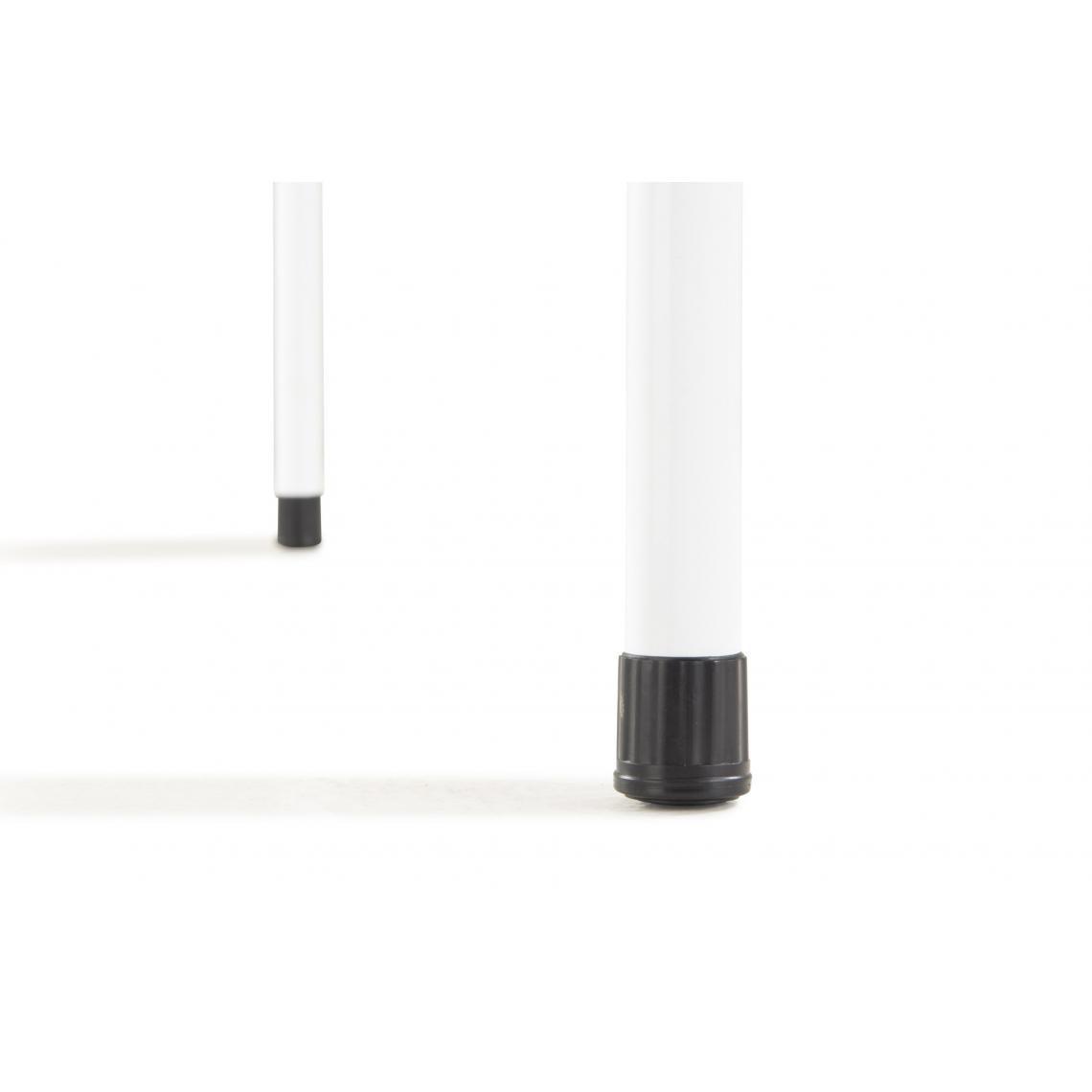 Table carrée Pliante Laquée Blanc PILO chmVD