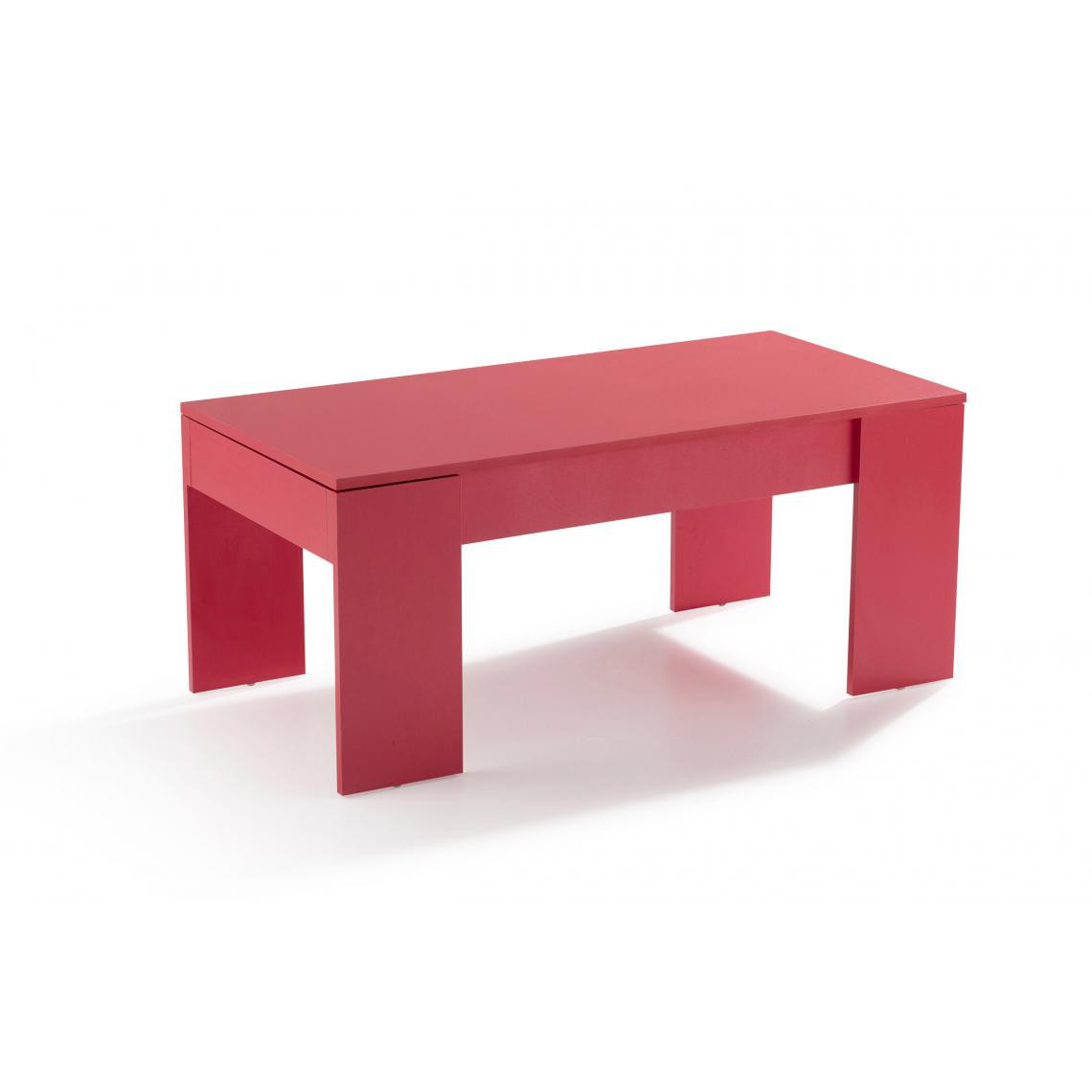 Table basse avec plateau relevable Rouge MEKAL  5 SUISSES