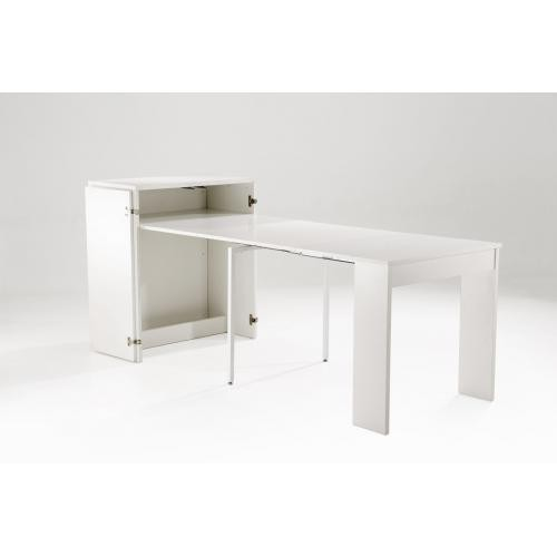 3S. x Home - Console 5 allonges Blanc TORVA - Console