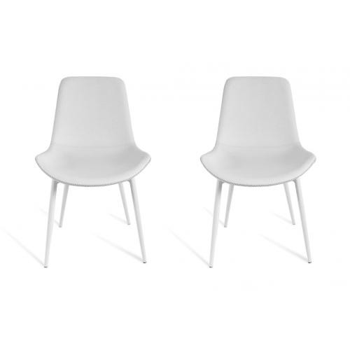 3S. x Home - Lot de 2 chaises Blanc JULIETTE - Chaise