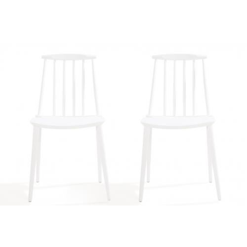 3S. x Home - Lot de 2 chaises Windsor Blanc REIGN - Chaise