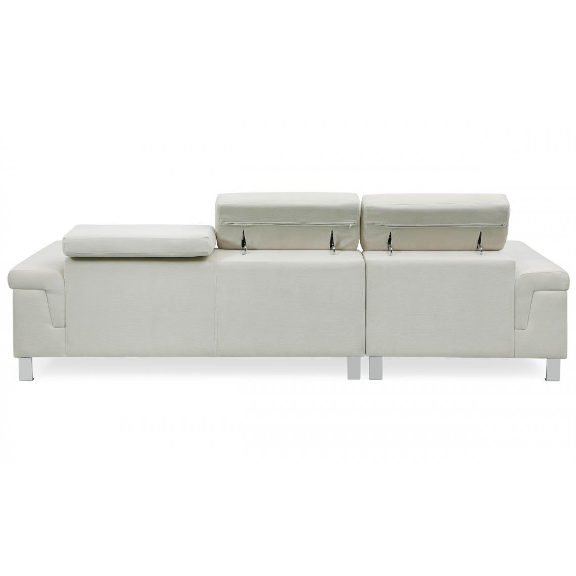 Canapé d'angle en velours Beige IRINA mvX88