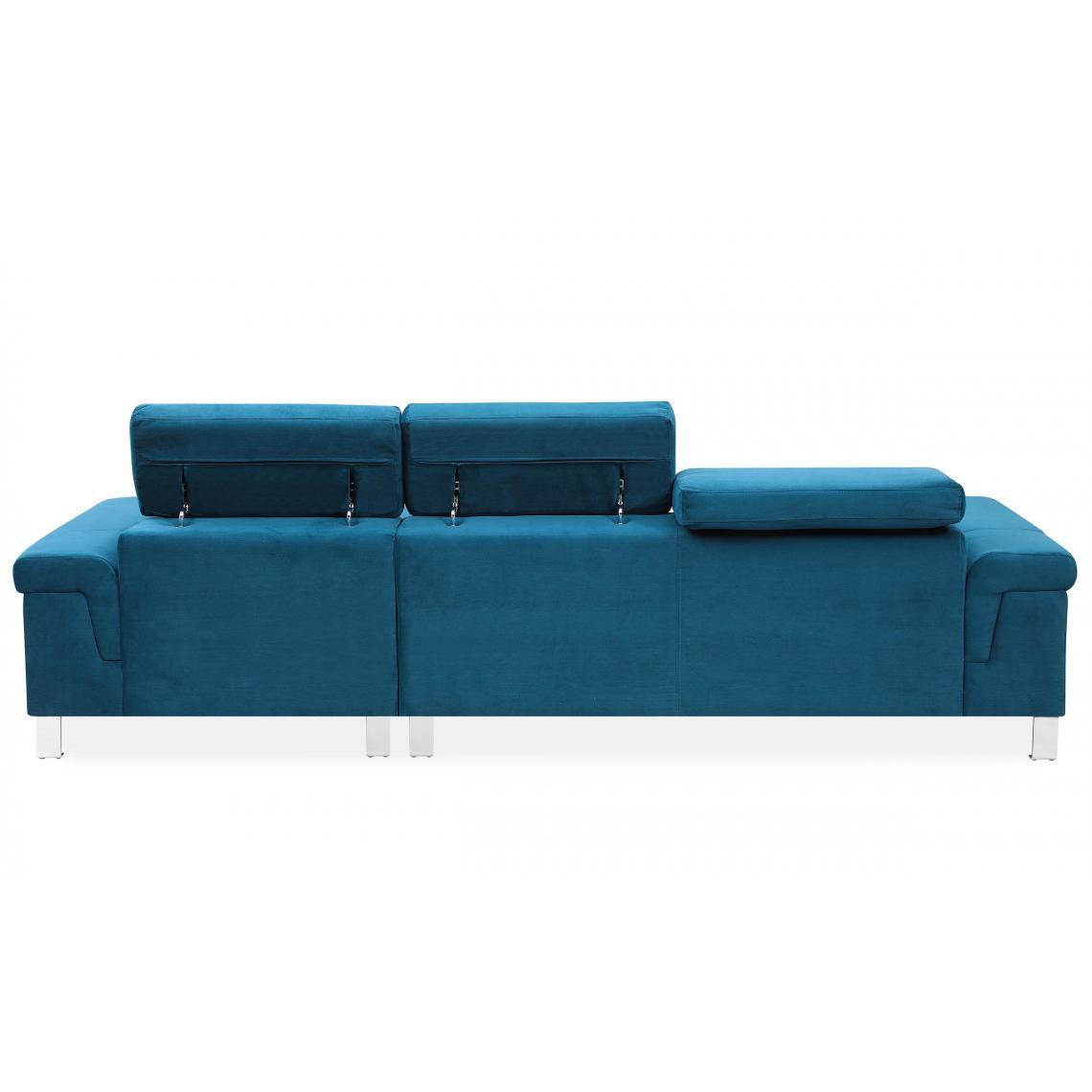 Canapé d'angle en velours Bleu IRINA pVwZ2