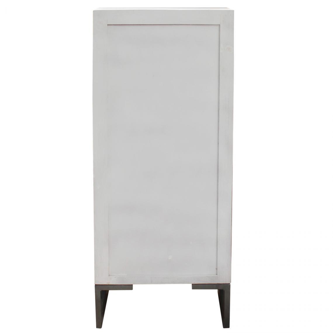 Commode 5 tiroirs Blanc NAKITA PBqLy