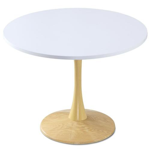 3S. x Home - Table ronde Chêne et Blanc OMBRELLI - Table salle à manger