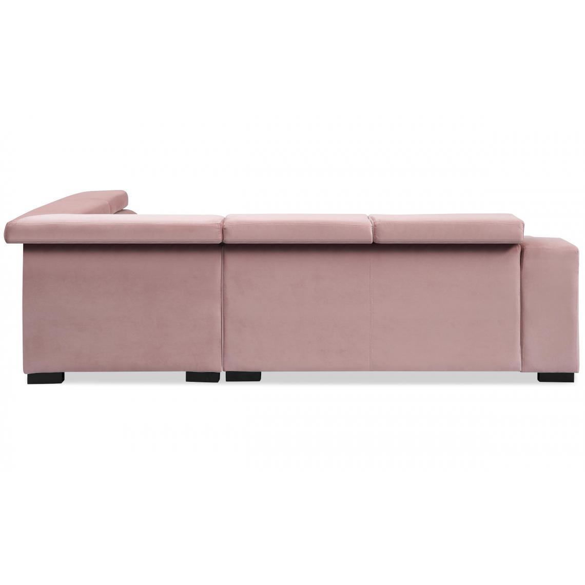Canapé d'angle en velours Rose ISMOSA CghHN