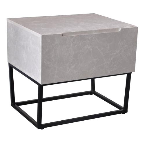 3S. x Home - Table de chevet LOGAM 1 tiroir Marbre - Table de chevet