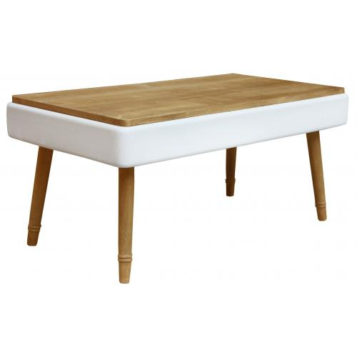 3S. x Home - Table basse scandinave Blanc JAKOB - Table basse