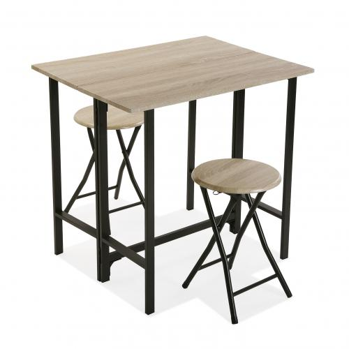3S. x Home - Set Table et 2 Tabourets TISTAO - Table