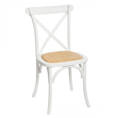 3S. x Home - Chaise style Bistro Blanc BISS - Chaise